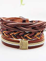 cheap -Men's Women's Leather Bracelet Wrap Bracelet Punk Adjustable Personalized Rock Multi-ways Wear Leather Line Jewelry For Casual Stage Date