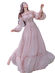 cheap -Sweet Lolita Dress Princess Lace Women's Girls' One Piece Dress Cosplay Pink Bishop Long Sleeves