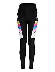 WOSAWE Pantaloni da ciclismo Per donna Bicicletta Pantaloni Ciclismo Asciugatura rapida Compressione Spandez Tessuto sintetico Classico