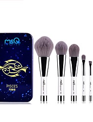 cheap -1set Makeup Brush Set Synthetic Hair Portable Easy to Use Easy Carrying Easy to Carry Aluminum Wood Men Face Men and Women Daily Eyes