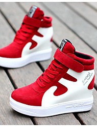 cheap -Women's Shoes Leather Pigskin Winter Fall Comfort Sneakers for Casual Black/White Red/White Black/Red White/Silver