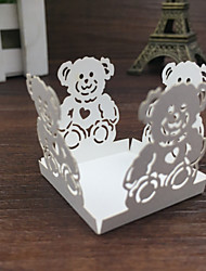 50pcs Bear Cupcake Wrappers Candy Box Bar Baby Shower Chocolate Bar Candy Bar Paper Bar Cake Accessories Party Supplies Wedding
