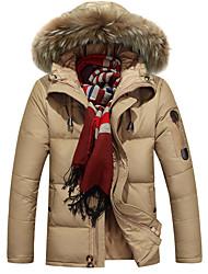 AFSJeep Homens Jaqueta de Plumas Ao ar livre Inverno Prova-de-Água Térmico/Quente A Prova de Vento Respirável Tecido Ultra Leve Jaquetas