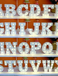 cheap -26 Letters Alphabet Night LED Lamp Wall Decoration For Children Bedroom Wedding Decor
