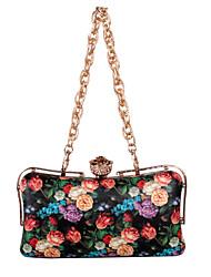 cheap -Women's Bags PU(Polyurethane) Clutch Sequin / Pattern / Print / Printing White / Black / Black Grey