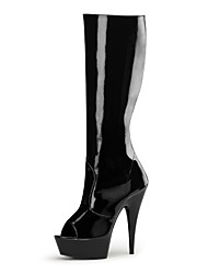 cheap -Women's Boots Fashion Boots Spring Fall PU Party & Evening Ruffles Zipper Lace-up Stiletto Heel White Black 5in & over