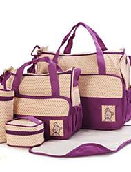 Mulher Bolsas Todas as Estações Lona Conjuntos de saco Conjunto de bolsa de 4 pcs para Azul Roxo cáqui