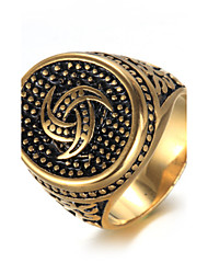 cheap -Men's Ring - Titanium Steel Luxury, Vintage, Fashion 8 / 9 / 10 Gold / Silver For Birthday / Gift / Daily