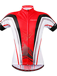 cheap -WOSAWE Short Sleeves Cycling Jersey - Red black Bike Jersey, Quick Dry
