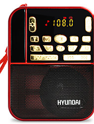 cheap -H1 FM Portable Radio MP3 Player SD CardWorld ReceiverRed
