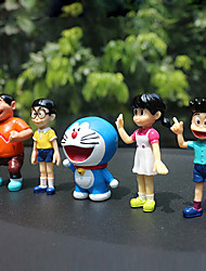 cheap -DIY Automotive  Pendants  Cartoon Anime Dora A Dream  Mechanical Doll Set  Car Pendant & Ornaments  Plastic