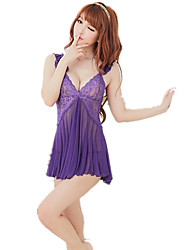 cheap -Women's Suits Nightwear,Sexy Lace Jacquard-Thin Nylon Spandex