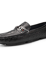 cheap -Men's Shoes Real Leather Winter Fall Moccasin Driving Shoes Loafers & Slip-Ons Side-Draped for Wedding Casual Black Brown Blue