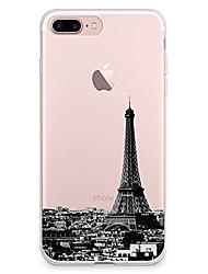 billige -Etui til iPhone 7 6 eiffeltårnet tpu blødt ultra-tyndt bagside cover cover iphone 7 plus 6 6s plus se 5s 5 5c 4s 4