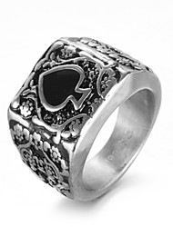 cheap -Men's Ring - Titanium Steel Luxury, Vintage, Punk 8 / 9 / 10 Silver For Birthday / Gift / Daily
