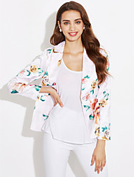 cheap -Women's Going out Casual/Daily Casual Spring Fall Blazer