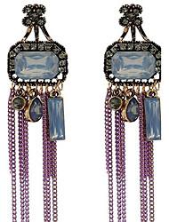 Dame Dråbeøreringe Mode Vintage Overdimensionerede kostume smykker Legering Smykker Til Anden Stadie I-byen-tøj
