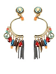 cheap -Lureme Women Vintage Ethnic Bohemian Dangle Earrings Antiwar leaf Beads Tassel Earrings
