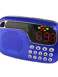 cheap -L-21 FM Portable Radio MP3 Player TF CardWorld ReceiverRed Blue