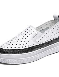 abordables -Femme Chaussures Cuir Printemps / Automne Confort Mocassins et Chaussons+D6148 Creepers Bout rond Points Polka pour Bureau et carrière /