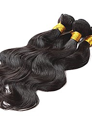 Uniwigs 100% Brazilian Remy Human Hair Weft Natural Color Body Wave Weave Extensions 3 Bundles (26inch 28inch 30inch) Can be Dyed