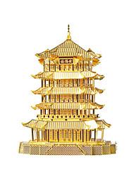 Kit Faça Você Mesmo Quebra-Cabeça Quebra-Cabeças de Metal Brinquedos Arquitetura Chinesa 3D Faça Você Mesmo Não Especificado Peças