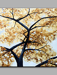Modern Abstract Pure Hand Draw Ready To Hang Decorative The Golden Tree Oil Painting