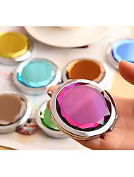 Crystal Compact Mirror  Diamond Portable Cosmetic Pocket Mirror Magnifying mirror Wedding Gifts Ramdon Color