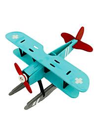 abordables -Puzzles 3D Puzzle Avion Articles d'ameublement A Faire Soi-Même En bois Bois Classique Enfant Cadeau