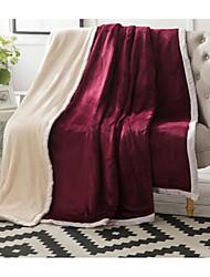 Недорогие -Супер мягкий Сплошной цвет Хлопчатобумажная ткань одеяла
