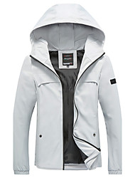 Men's Plus Size Personality Slim Sleeves Patch Design Hooded Jacket