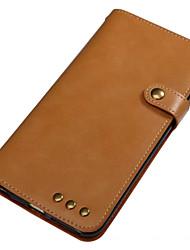 abordables -Caja para el iphone de la manzana 7 más 7 caso cubierta portatarjetas titular cartera flip cuerpo completo caso cuero sólido cuero genuino