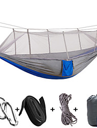 cheap -1 Camping Hammock with Mosquito Net Portable Ultra Light (UL) Breathable Collapsible Nylon for Camping Camping / Hiking / Caving Outdoor