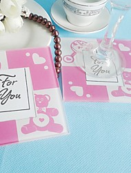 cheap -2pcs/Set Baby Glass Photo Coasters Shanghai Beter Gifts® Back To School Party Favors