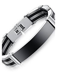 abordables -Hombre Otros Brazalete - Personalizado / Estilo Simple / Moda Forma de Círculo / Forma Geométrica Negro / Plata Pulseras y Brazaletes Para