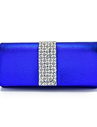 Women Bags All Seasons PU Evening Bag Crystal/ Rhinestone for Wedding Event/Party Red Blushing Pink Light Gold Silver Royal Blue