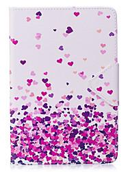baratos -Caso para ipad mini 1 2 3 mini capa de 4 capas padrão de coração material de PU triplo tablet pc caso caso de telefone