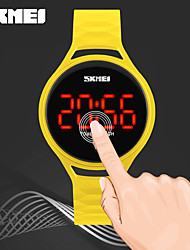 SKMEI Women's Kid's Digital Watch Chinese Digital LED Touch Screen Water Resistant / Water Proof Noctilucent PU Band Cool Casual Black