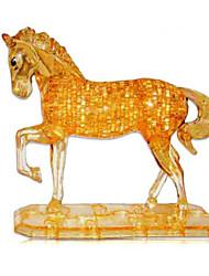 abordables -Puzzles 3D Puzzle Puzzles de Cristal Juguetes Perros Torre Caballo Oso Animal 3D Plásticos Unisex Piezas