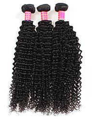 cheap -Culry Hair Brazilian Kinky Curly 3pcs/lot Virgin Hair Extensions Brazilian Hair Bundles 7A Grade Unprocessed Human Hair Weave