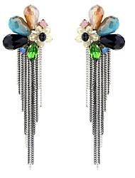 Women's Drop Earrings Tassel Personalized Oversized Alloy Flower Jewelry For Other Gift Stage Beach