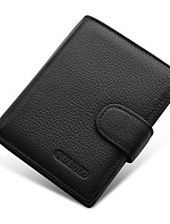cheap -Men Bags Cowhide Money Clip for Shopping Daily Casual All Seasons Black Coffee