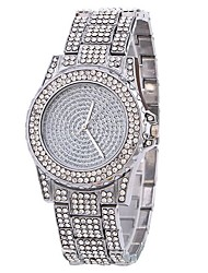 abordables -Mujer Reloj de Pulsera Chino La imitación de diamante Aleación Banda Lujo / Destello / Casual Plata / Dorado / Oro Rosa