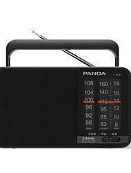 abordables -T-15 FM / AM Radio portable Carte TF World Receiver Noir