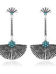 abordables -Mujer Pendientes Set Diseño Básico Geométrico Cosecha Esmeralda Legierung Joyas Para Ceremonia Fiesta de Noche Escenario Discoteca
