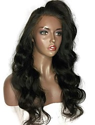 High Quality 12-26 Inch 150% Density 13*6 Lace Front Wig Non-remy Hair Wavy Full Lace Wig Virgin Brazilian Human Hair Wig