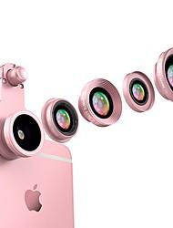 Obiettivi della macchina fotografica dello smartphone del mink di flash 0.65x obiettivo di pesci dell'obiettivo di macro 10x grandangolare