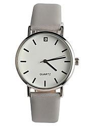 Mulheres Relógio de Moda Japanês Quartzo / PU Banda Casual Elegantes Cinza