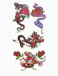 Недорогие -Временные тату Тату с животными С рисунком Нижняя часть спины Waterproof Женский Мужской Подростки Вспышка татуировки Временные татуировки