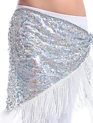 economico -Danza del ventre Cintura per danza del ventre Per donna Esibizione Poliestere Con strass Monetine di rame 1 pezzo Cintura